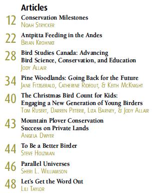 SNEAK PEEK! Birder's Guide to Conservation & Community, 2014
